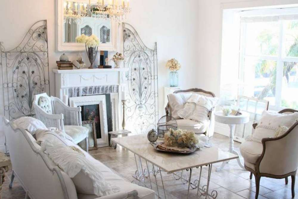 decorar shabby chic salon